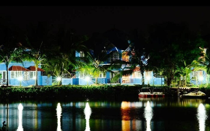Kairali Heritage Resort at night