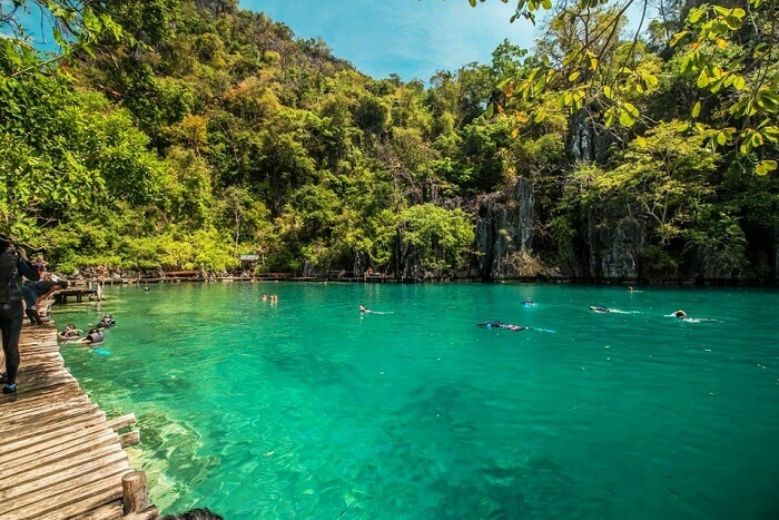 Take a dip in the lagoons in Philippines