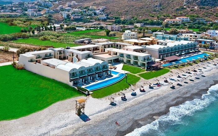 a beautiful beach resort with a private beach