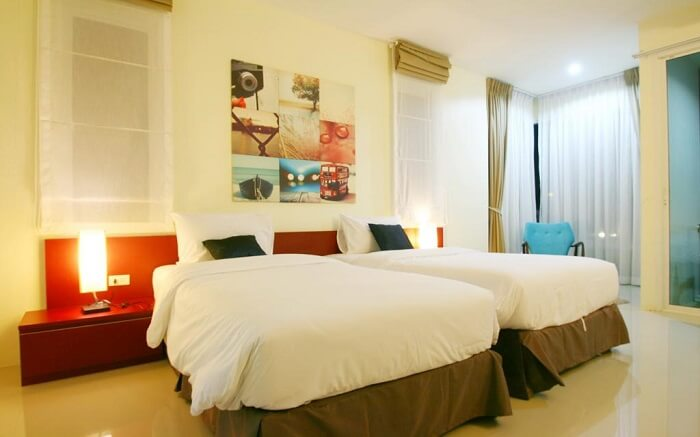 a gorgeous bedroom of Apo Hotel