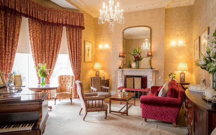 a gorgeous luxury hotel in Ireland