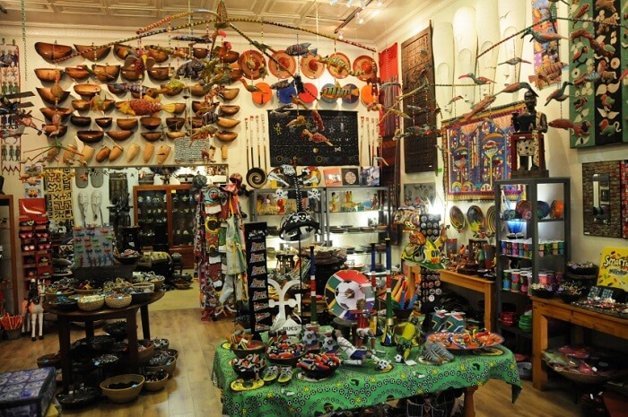 a store with a range of quality art and souvenirs