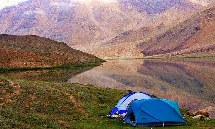 camping near chandratal