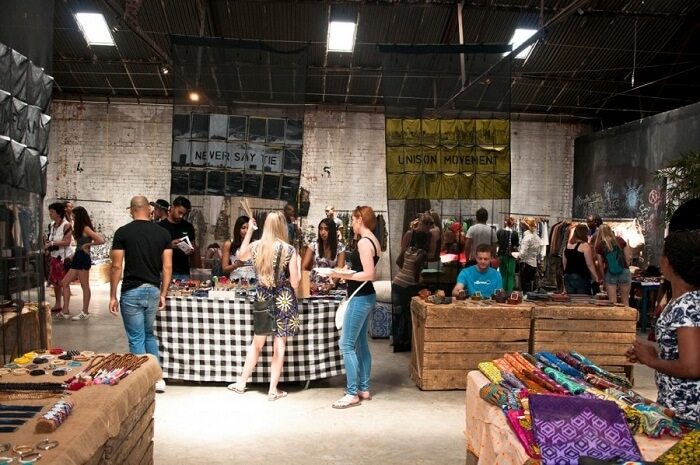 an urban food and design market