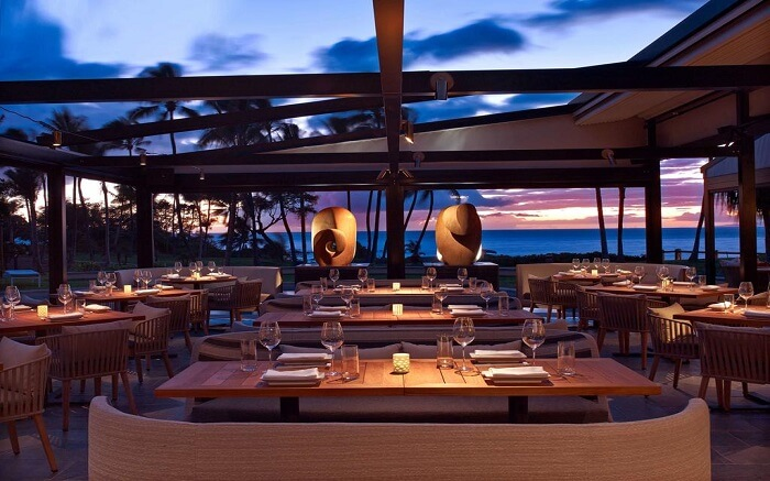 outdoor dinning area of a resort