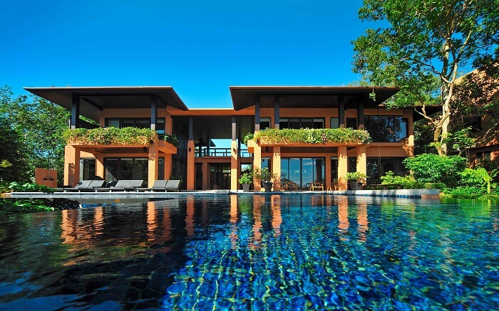 outdoor pool at Sri Panwa Phuket Luxury Pool Villa