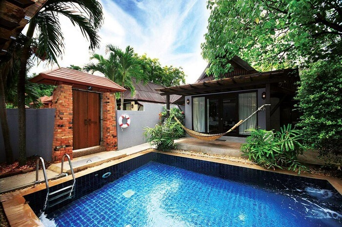private pool near room in railay bay