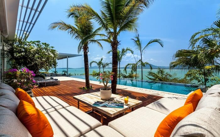 sitting area by the pool at Villa Kalipay Phuket s