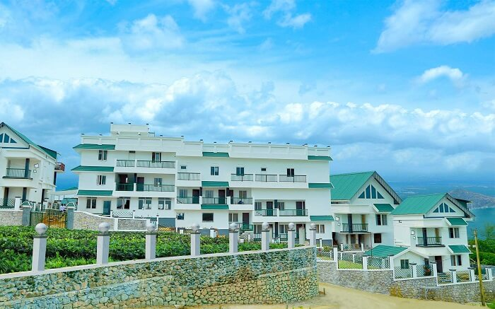 the beautiful Palette Hill View Resort under blue sky