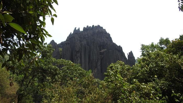 the unique and unusual limestone rock monoliths
