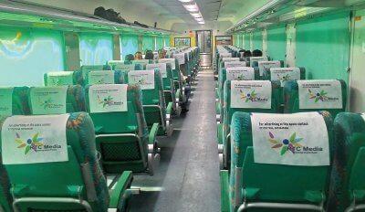 Gatimaan express interior