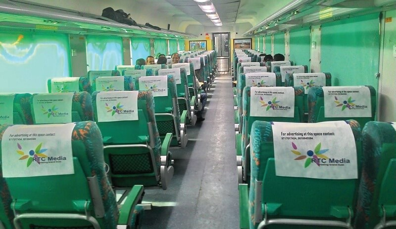 Gatimaan express interior