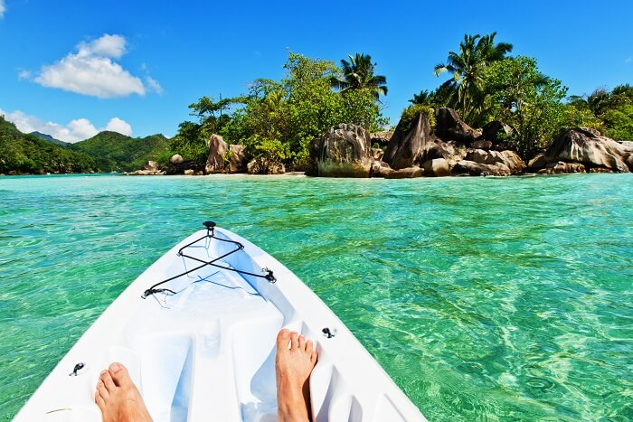 Kayaking in Seychelles