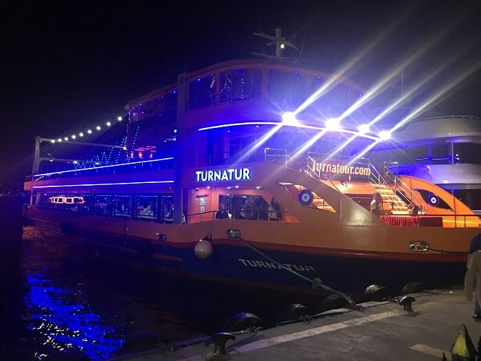 Cruise ride at night