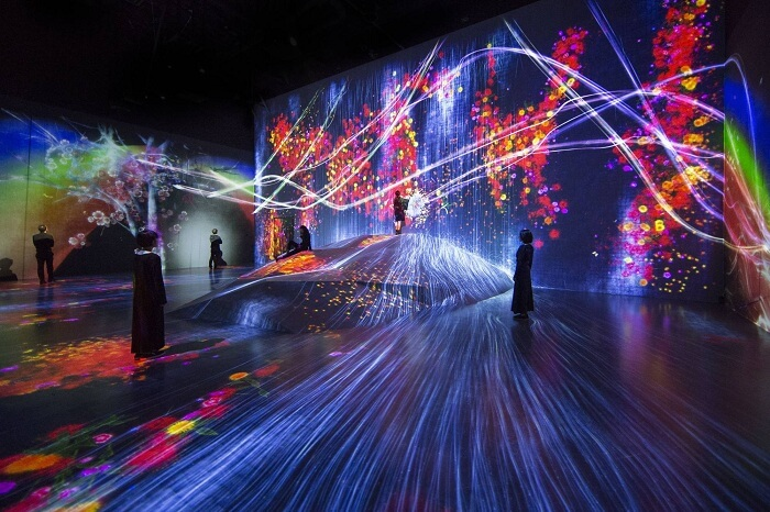 psychedelic digital art museum in japan