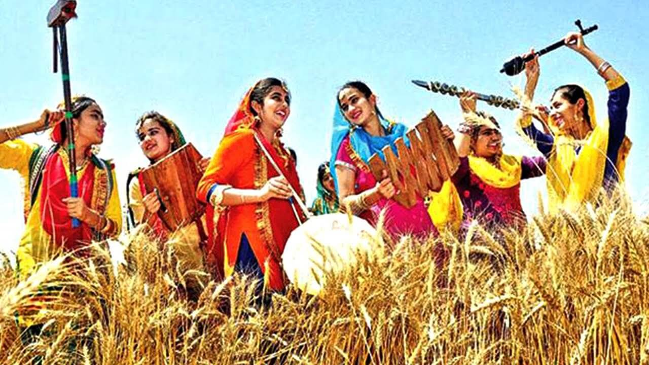 women wearing traditional clothes during Baisakhi