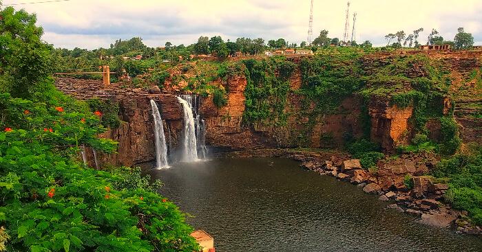 A waterfall in Belgaum district of Karnataka