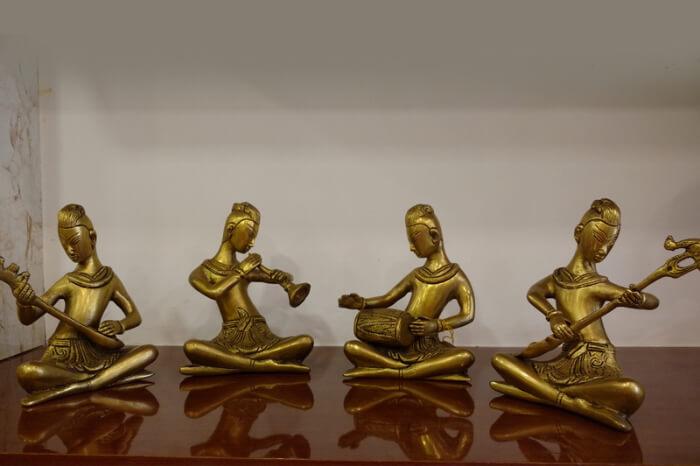 Brass statue showpieces from Belgaum, Karnataka