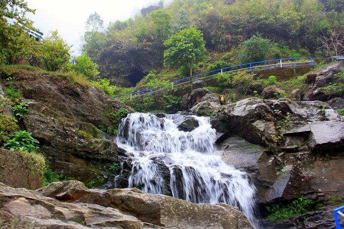 Drive down Hill Cart Road waterfall