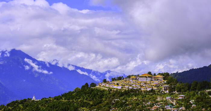 The gorgeous yellow homes of Tawang