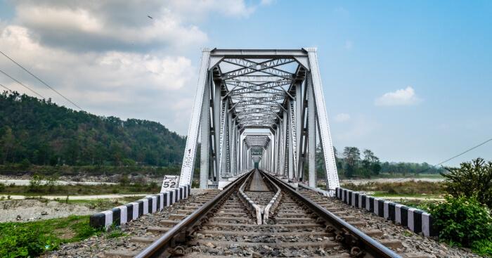 train track in Siliguri