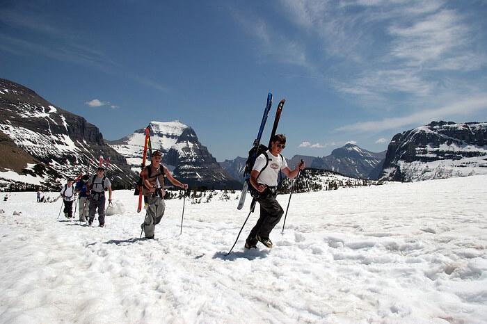 skiing in glacier national park