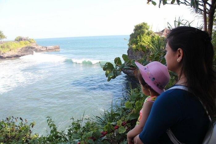 overlooking sea at Uluwatu Temple
