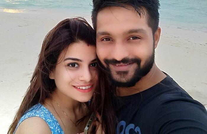 couple posing for selfie