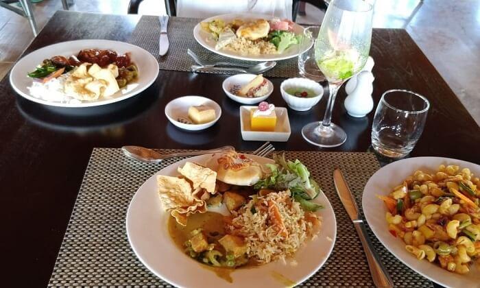 vegetarian food on a table