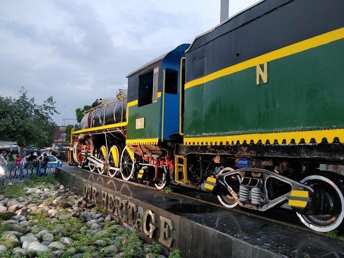 Toy train ride