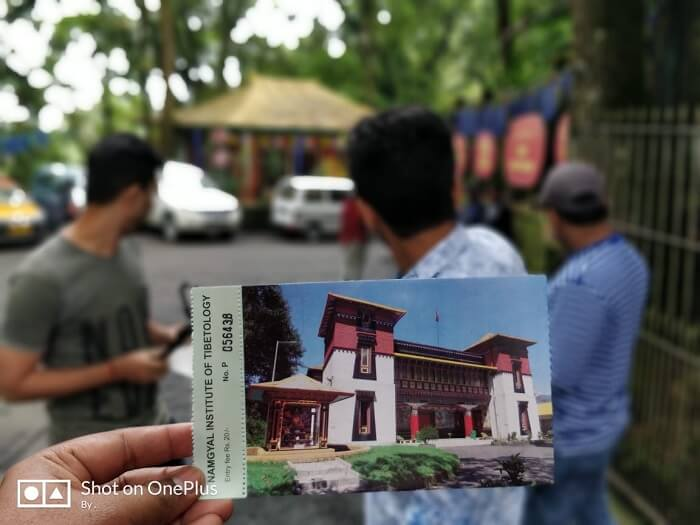 Ticket for Namgyal Institute