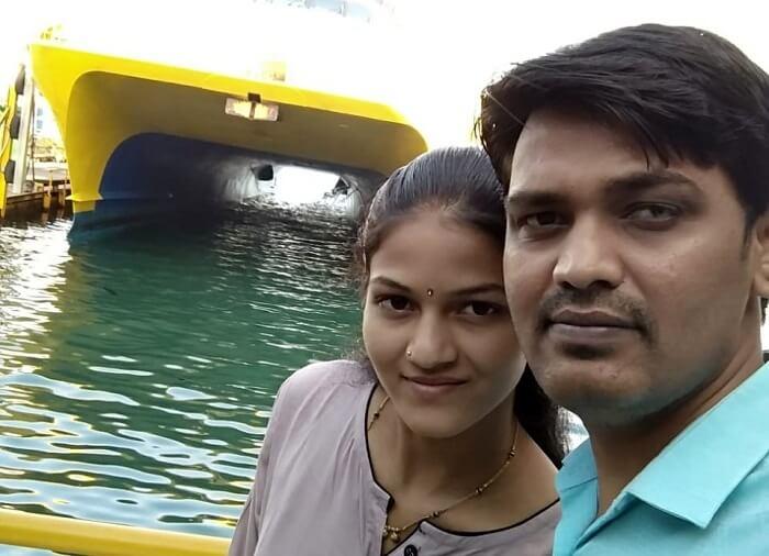 couple in bali near beach