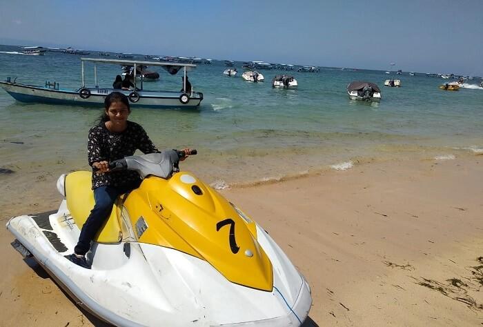 girl on jet ski boat