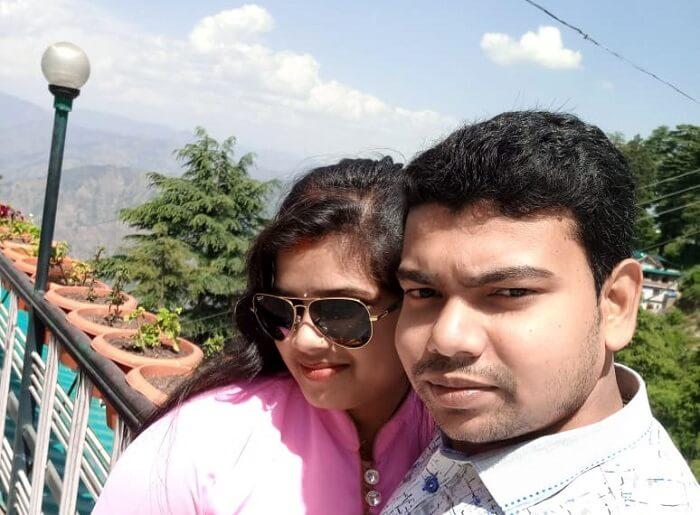 couple on ridge road