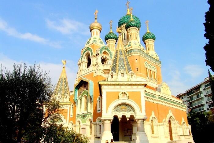 Russian church Nice France