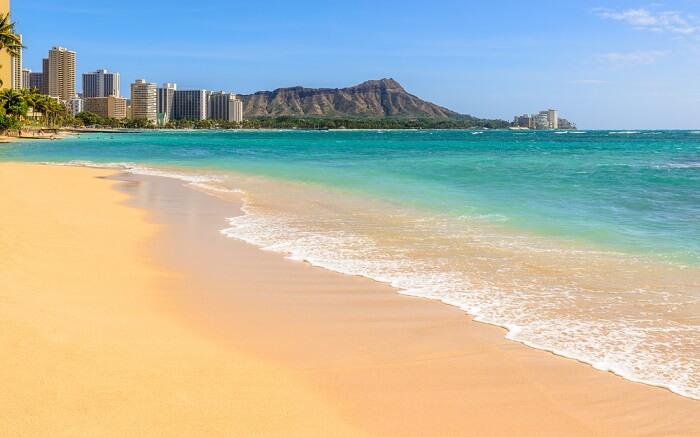 Sandy Waikiki beach