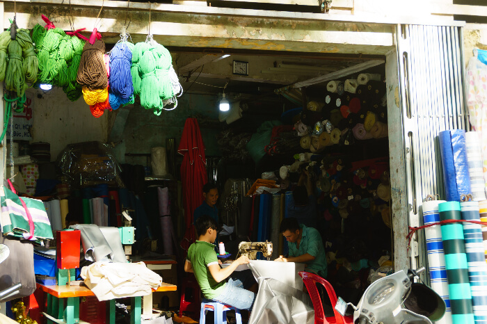 A tailoring point in Ho Chi Minh