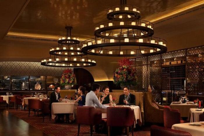 Beautiful ceiling at Terrazza in Macau