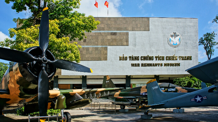 The War Remnants Museume in Ho Chi Minh