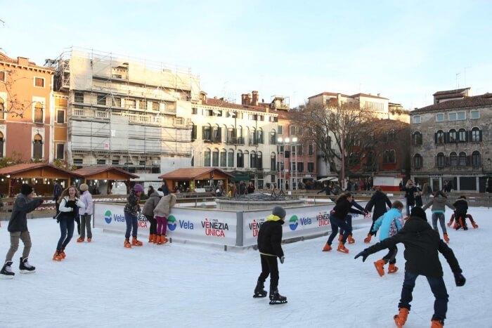ice skating in venice