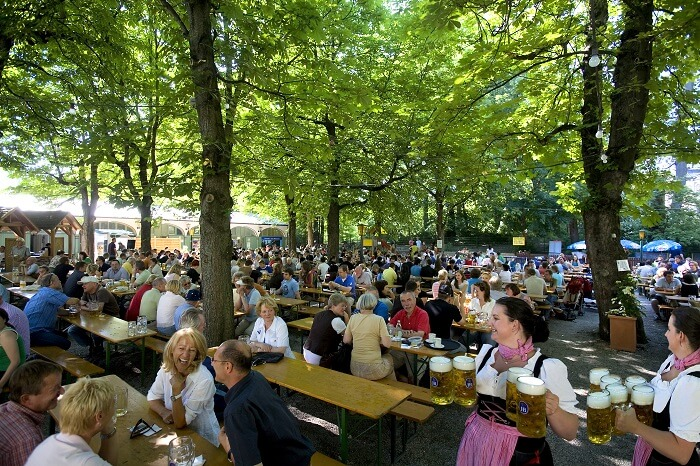 Beer Gardens, Munich
