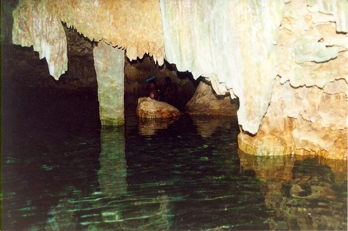 inside cave in fiji