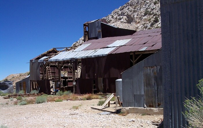 view of ghost town in inyo mountains