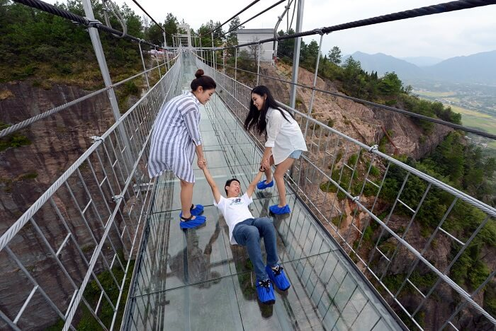 Glass Suspension Bridge Is Open To The Public In China