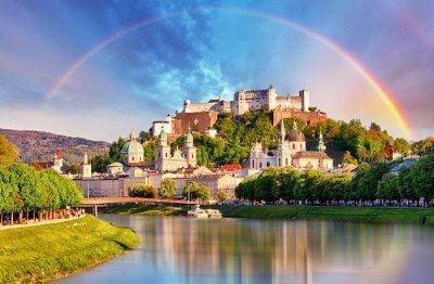 view of salzburg castle