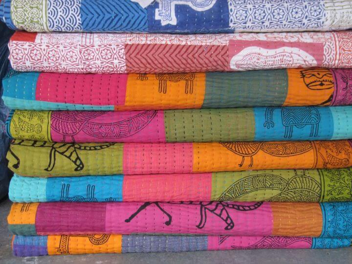 the revival of local crafts like block printing, patchwork