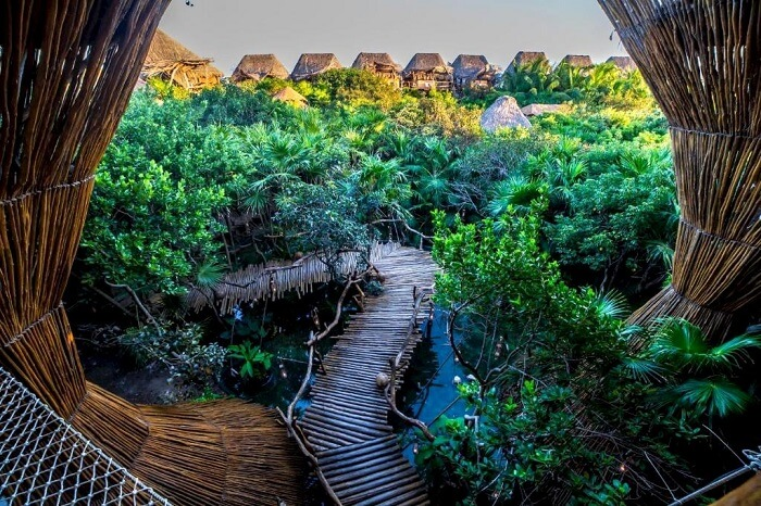 adventurous path at Azulik Eco Resort