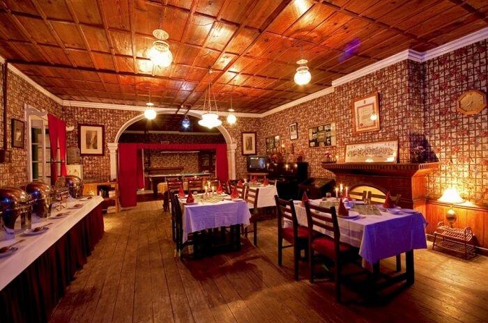 dining hall in resort