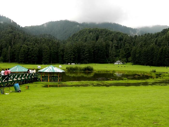 view of the pristine lake