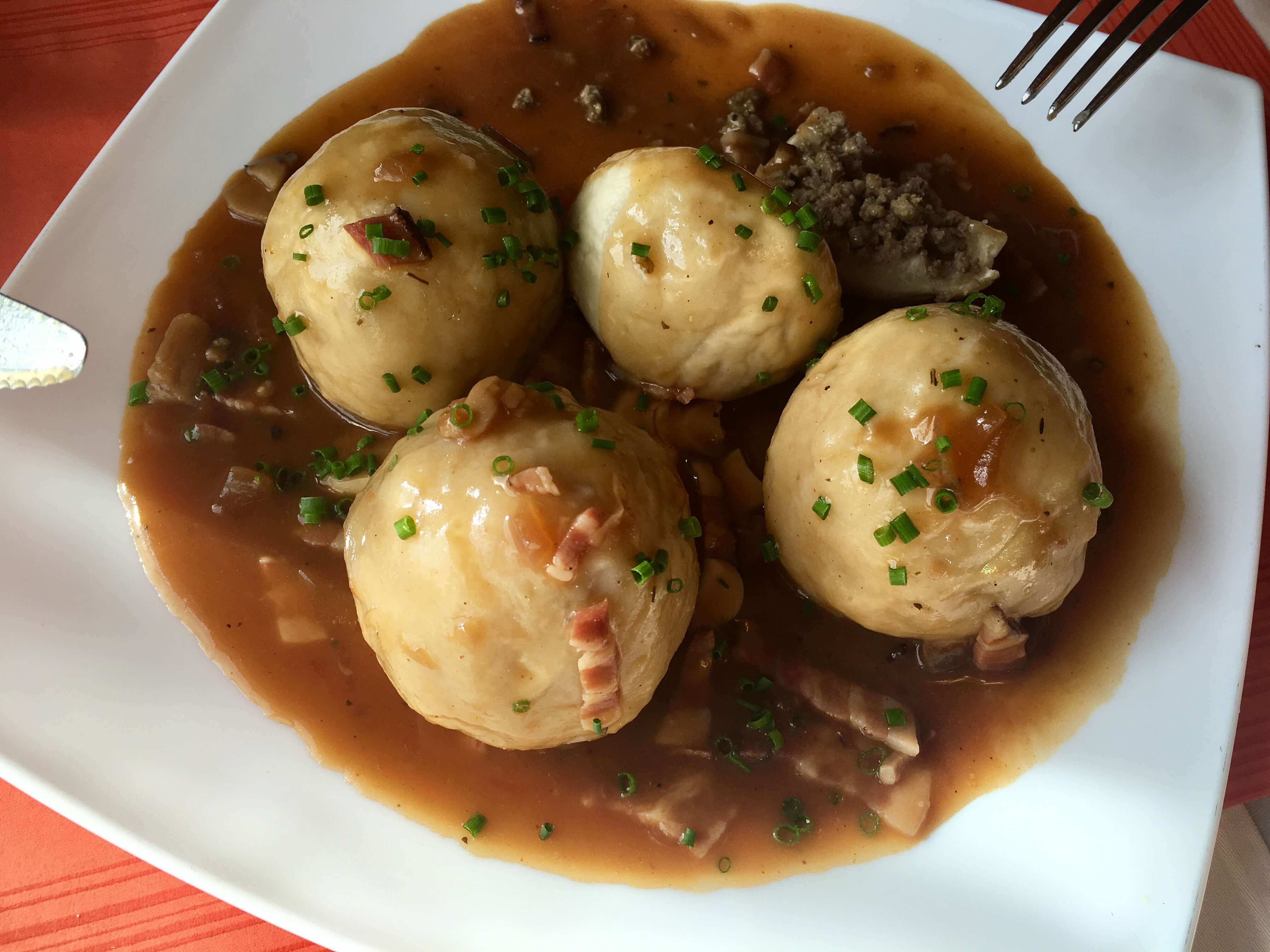Knödel is the form of dumpling